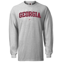 Nike Georgia Bulldogs Ash College Classic Long Sleeve T-shirt  from: USD$23.95
