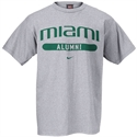 Nike Miami Hurricanes Ash Alumni T-shirt  from: USD$18.00