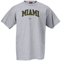Nike Miami Hurricanes Ash Classic College T-shirt  from: USD$18.00