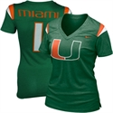 Nike Miami Hurricanes Ladies Replica Football V-neck Premium T-shirt - Green  from: USD$25.99