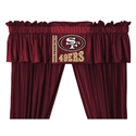 "San Francisco 49ers 88"" X 14"" Window Valance  from: USD$29.95"