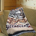"Tampa Bay Buccaneers 48""x60"" Acrylic Triple Woven Home Field Advantage Blanket Throw  from: USD$34.95"