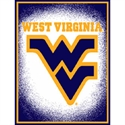"West Virginia Mountaineers 48""x60"" Focus Series Acrylic Triple Woven Blanket Throw  from: USD$29.95"