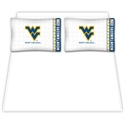 West Virginia Mountaineers Queen Size Sheet Set  from: USD$59.95