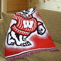 "Wisconsin Badgers 48""x60"" Focus Series Acrylic Triple Woven Blanket Throw  from: USD$29.95"