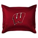 Wisconsin Badgers Locker Room Pillow Sham  from: USD$24.95