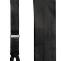 Herringbone Formal Suspenders - Black Silk Pattern Braces  from: USD$79.94