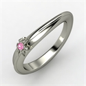 Daisy Ring, Platinum Ring With Pink Sapphire  from: USD$1,140.00