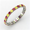 Rich & Thin Eternity Band, 14k White Gold Ring With Yellow Sapphire  from: USD$1,130.00