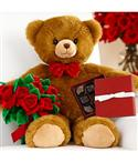 "Deluxe 16"" Beary Romantic Bear  from: USD$39.99"