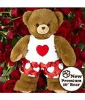 """Deluxe 16"""" Main Squeeze Bear By Unlimited Hugs  from: USD$19.98"""