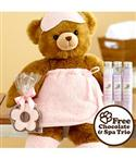 "Deluxe Beary Pampered 16"" Bear With Free Chocolate And Lavender Spa Trio  from: USD$39.99"