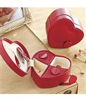 Leather Heart Jewelry Box  from: USD$24.98