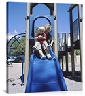Mother And Her Son Sitting On A Slide, Taos, New Mexico  from: USD$200.00