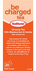 """Ginseng Tea With Blackcurrant & Vanilla - Be Charged 6 Packs Of 20`s "" from: NZ39.90"