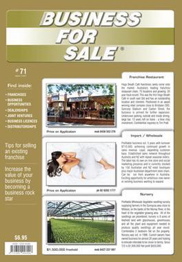 Australian Business For Sale Magazine   from AU$55.00
