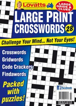 Large Print Crosswords Magazine   from AU$23.00
