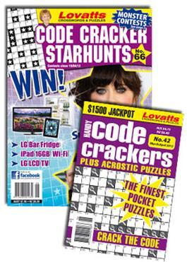 Lovatts Codecracker Combo Magazine   from AU$62.00