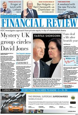 The Weekend Financial Review Magazine   from AU$119.00