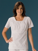 Cherokee Professional Whites Embroidered Top  from: USD$17.48