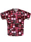 "Cherokee ""universal Love"" Print V-neck Tunic  from: USD$16.48"
