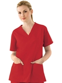Dickies V-neck Top With Two Front Pockets (valentine`s Day Colors)  from: USD$11.98