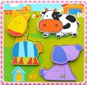 Wooden Crazy Farm Animals Puzzle from: AU$14.95