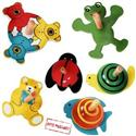 Wooden Toy Novelty Spinning Tops Animals from: AU$12.95