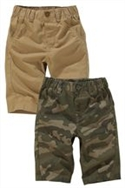 Camouflage And Tan Print Shorts Two Pack (3-16yrs)
