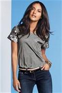 Sequin Sleeve T-shirt