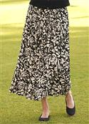 Orvis Black-and-tan Floral Skirt  from: USD$59.00