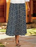 Orvis Blossom Crinkle-rayon Skirt  from: USD$59.00