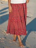Orvis Red Calico Tiered Skirt  from: USD$59.00