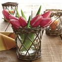 Orvis Willow-wrapped Vase/votive  from: USD$19.00