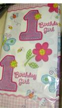 1st Birthday Party Hugs And Stitches Table Cover Girl  from: AU12.95