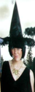 Adult Witches Hat Black Feathered Brim  from: AU15.95