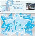Baby Boys 1st Birthday Cut Outs Pk 30  from: AU11.95