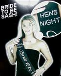 Bridal Sash - Bride To Be Black & Silver  from: AU12.95