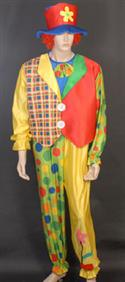 Clown Jumpsuit & Hat Fancy Dress Costume- Small-medium  from: AU82.50