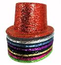 Hat - Top Glitter Assorted Colours Available