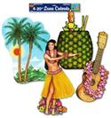 Luau Cut Outs - 4 Large Assorted  from: AU10.95