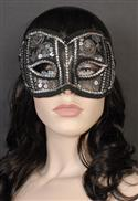 Mask - Silver And Black Brocade & Sequins  from: AU34.95