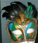 Mask -venetian Style Blue, Green & Gold  from: AU25.95