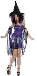 Naughty Witch Costume, Cuffs & Hat - Medium  from: AU69.95