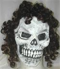 Skeleton Full Face Mask With Curly Hair