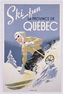 Ski Fun La Province De Quebec, 1948 Poster Print