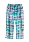 Roamans Plus Size Dreams & Co. Woven Cotton Sleep Capris (aqua Purple Plaid, L)  from: USD$14.98