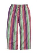 Roamans Plus Size Dreams & Co. Woven Cotton Sleep Capris (multi Stripe, 1x)  from: USD$14.98