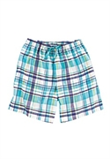 Roamans Plus Size Dreams & Co. Woven Cotton Sleep Shorts (blue Jay Pink Plaid, M)  from: USD$12.98