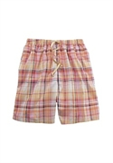 Roamans Plus Size Dreams & Co. Woven Cotton Sleep Shorts (honey Peach Plaid, M)  from: USD$11.98